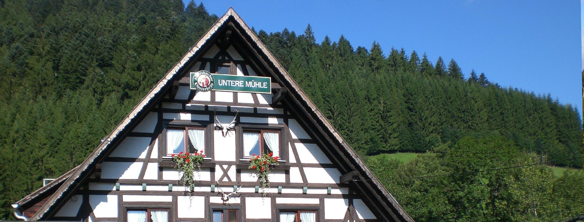 Untere Mühle in Alpirsbach im Kinzigtal / Schwarzwald